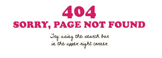 Sorry, page not found. Please try using the search bar in the upper right corner.